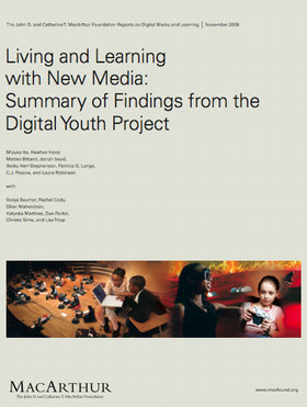digital childhood and youth new texts Living and learning with new media: summary of findings from the digital youth project notes on the text acknowledgments.