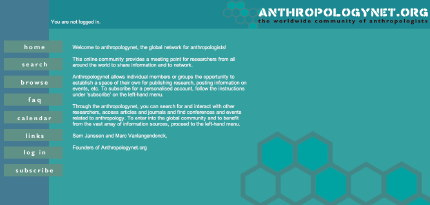 anthropologynet.org front page